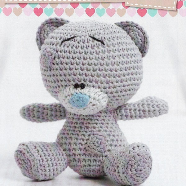 Crochet Patterns For Cotton Yarn : Cute Character Teddy Bear Crochet Pattern only Natura Just ...