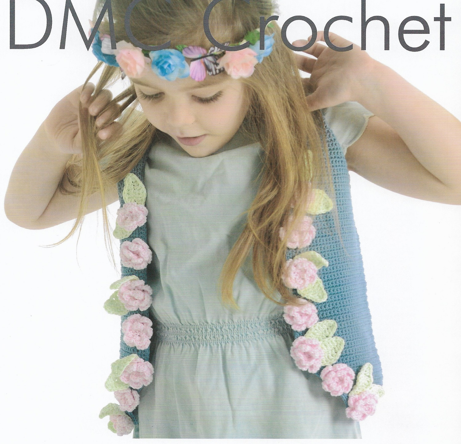 Gilet With Roses Embellishment Crochet Pattern Only Natura Just